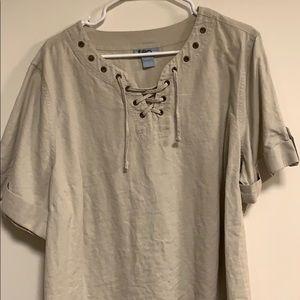 liz & me linen blouse